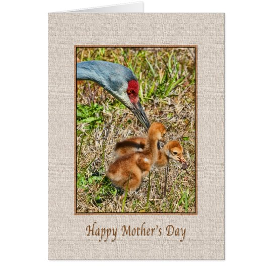 Mother's Day with Sandhill Crane Birds Card