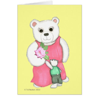 Mother's Day World's Best Mom Bear Card