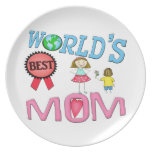 Mother's Day World's Best Mom Plate