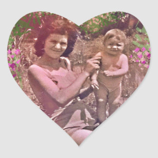 Mother's Day years 60 Heart Sticker