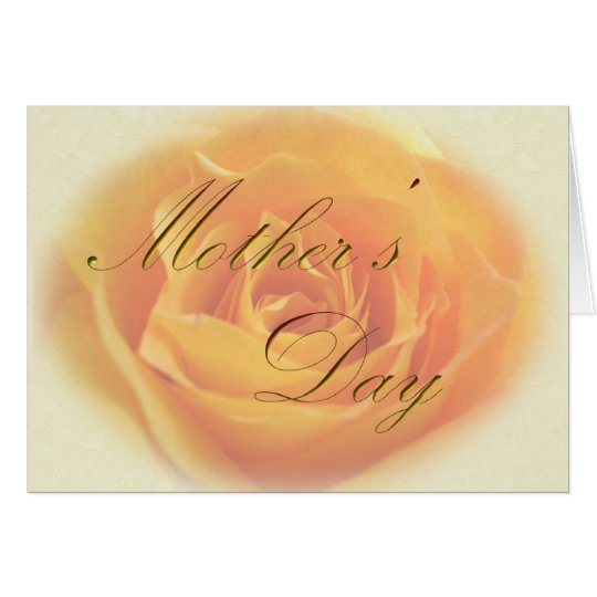 Mothers Day Yellow Rose Card
