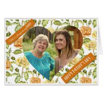 Mother's Day - Yellow Roses Heart Custom Photo