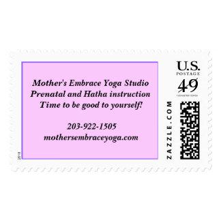 Mother's Embrace Yoga StudioPrenatal and Hatha ... Postage Stamp