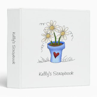 Mother's Flowers · Blue Flower Pot Binder