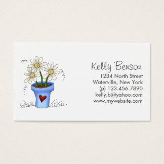 Mother's Flowers · Blue Flower Pot Business Card