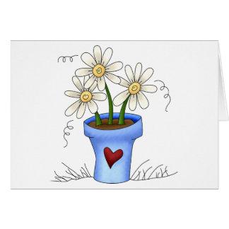Mother's Flowers · Blue Flower Pot Cards
