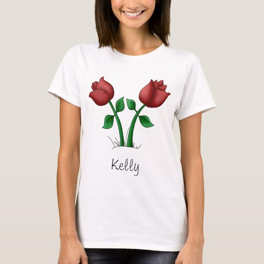 Mother's Flowers · Red Flowers T-Shirt