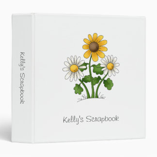 Mother's Flowers · Yellow & White Flowers Binder