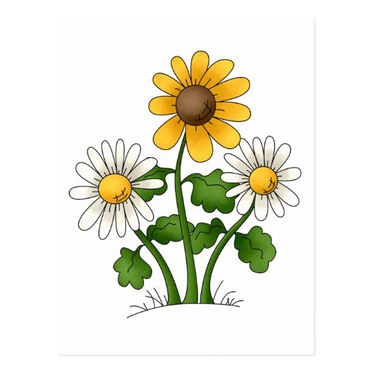 Mother's Flowers · Yellow & White Flowers Postcard