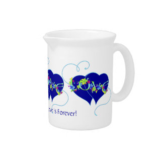 Mother's Forever Love Hearts Pitcher