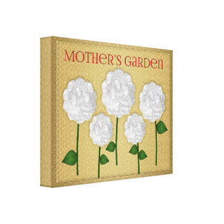 Mother's Garden Gold Photo Collage Canvas Print