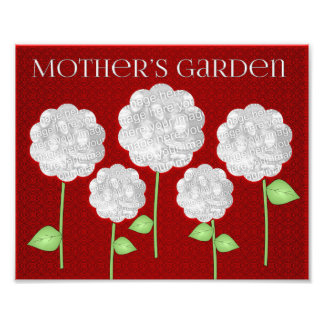 Mother's Garden Red Photo Collage