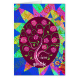 Mothers Give Life Whimsical Tree of Life Card
