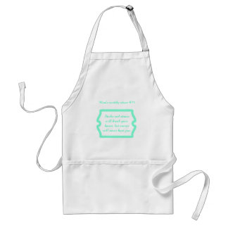 Mother's great advice on t-shirts & gifts for her. adult apron