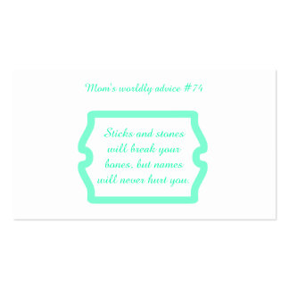 Mother's great advice on t-shirts & gifts for her. Double-Sided standard business cards (Pack of 100)