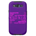 Mothers in Law Birthdays & Weddings : Qualities Galaxy SIII Cases