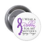 Mother's Inspiring Courage - Pancreatic Cancer Pinback Button