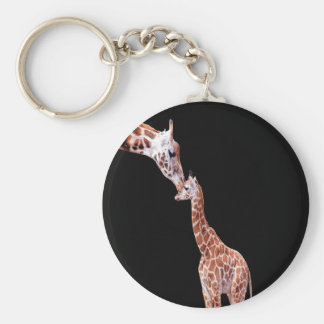 Mothers Kiss Basic Round Button Keychain