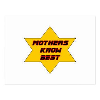 Mothers Know Best Gold The MUSEUM Zazzle Gifts Postcard
