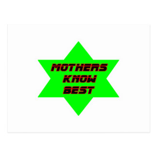 Mothers Know Best Green The MUSEUM Zazzle Gifts Postcard