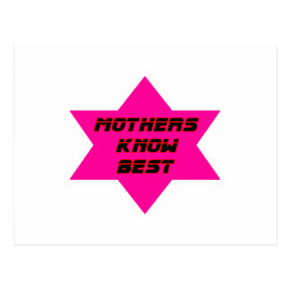 Mothers Know Best Magenta The MUSEUM Zazzle Gifts Postcard