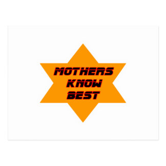 Mothers Know Best Orange The MUSEUM Zazzle Gifts Postcard
