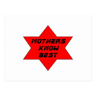 Mothers Know Best Red The MUSEUM Zazzle Gifts Postcard