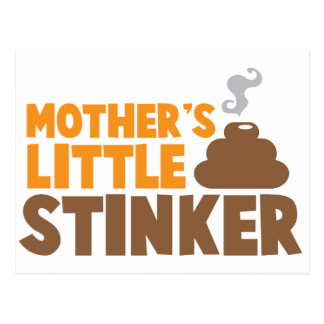 Mother's little Stinker with poo stink smells Postcard
