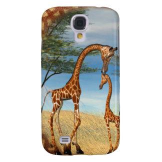 Mother's Love Giraffe Galaxy S4 Cases
