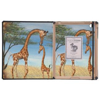 Mother's Love Giraffe iPad Cases