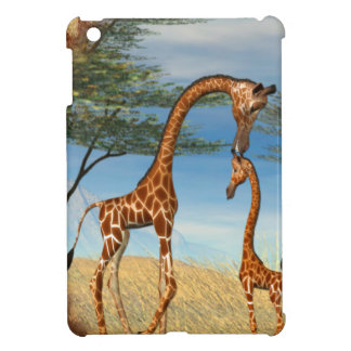 Mother's Love Giraffe iPad Mini Cases