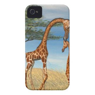 Mother's Love Giraffe iPhone 4 Case-Mate Cases