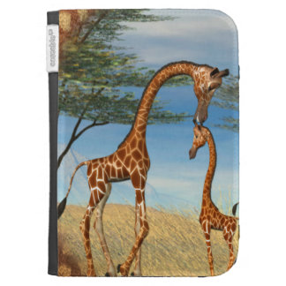 Mother's Love Giraffe Kindle 3G Covers