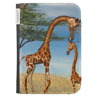 Mother's Love Giraffe Kindle Folio Cases
