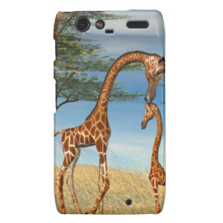 Mother's Love Giraffe Motorola Droid RAZR Covers