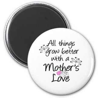 Mother's Love Grows 2 Inch Round Magnet