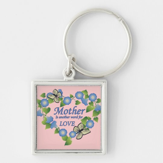 Mother's Love Heart Keychain