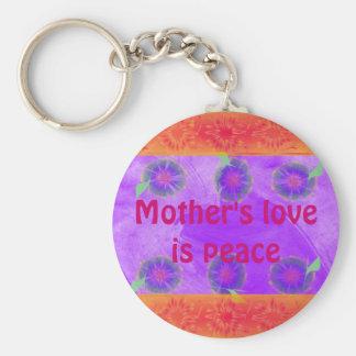 Mother's love keycahin basic round button keychain