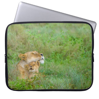 Mother's Love Lioness & Baby Laptop Sleeve