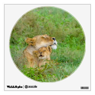 Mother's Love Lioness & Baby Wall Decal