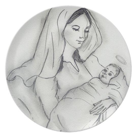 Mother's Love Melamine Plate