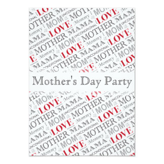 Mother's Love, Mother's Day or Birthday Pattern Card