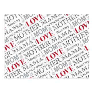 Mother's Love, Mother's Day or Birthday Pattern Postcard