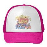 Mother's Love Never Quits Growing Trucker Hats