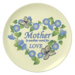 Mother's Love Party Plates