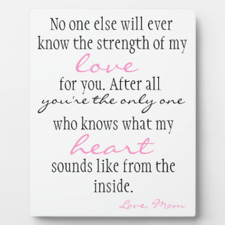 Mother's Love Display Plaques