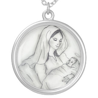 Mother's Love Round Pendant Necklace
