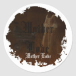 Mothers Love Round Stickers