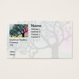 Mother's Love - Trees on Vellum and Watercolor Business Card