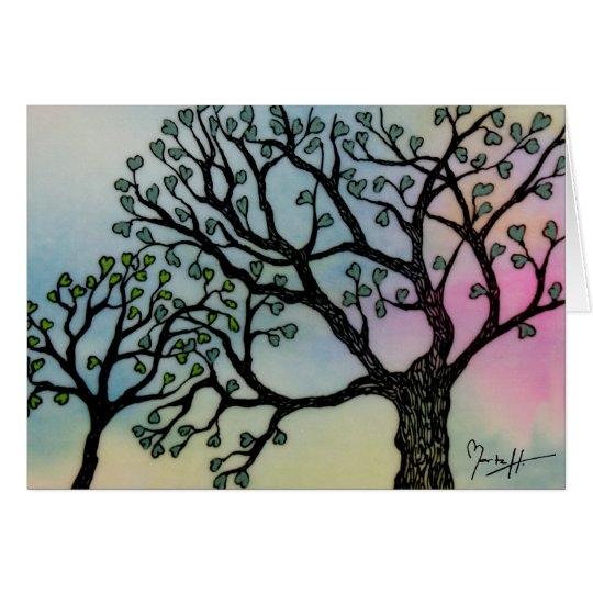 Mother's Love - Trees on Vellum and Watercolor Card
